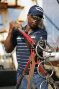 fisherman working on-board